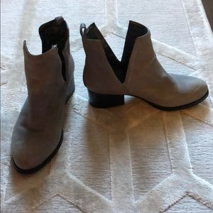 Grey leather Jeffrey campbell booties